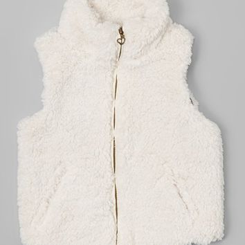 Urban Republic White Faux Wool Vest - Girls