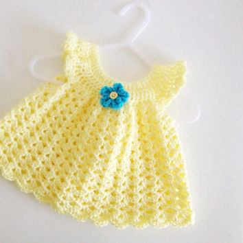 Shop Crochet Baby Doll Dress On Wanelo
