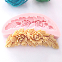 Comb Shaped Flowers Silicone Mold Fondant Molds Sugar Craft Tools Chocolate Mould For Cakes