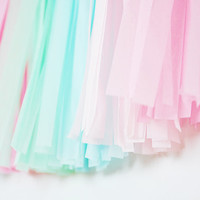 Blossom Tassel Garland, Pink Blush Mint Blue, Baby Shower, Girls Room, Nursery Decor, Cake Smash, Wedding Bunting, First Birthday