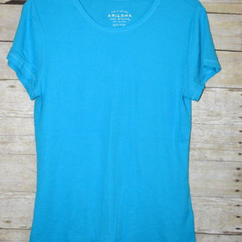 New Arizona 1X Long Blue T-shirt Tee New without tags Favorite Crew