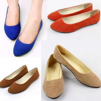2017 Women Spring Autumn Fashion Ladies Pointed Toe Flat Shoes Flats Loafers Slip On Shoes