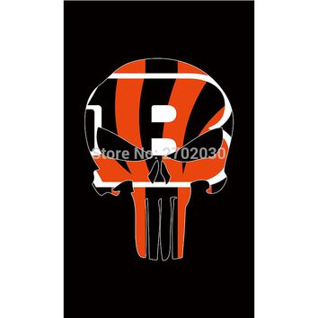 Hanging Decoration Black Cincinnati Bengals Flag Super Bowl Champions World Series Football Sport Team Fans 3ft X 5ft Banner