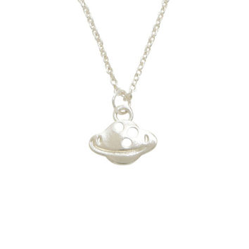 Silver Dainty Planet Necklace