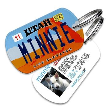 Utah License Plate Pet Tag