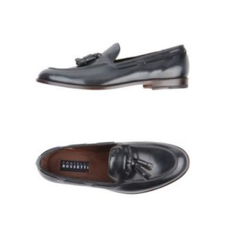 Fratelli Rossetti Mens Grey Leather Tassel Loafers