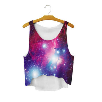 Women's Summer Style Cute Sexy Girl Loose 3D Printed Cropped Sports Camisole Harajuku Youth Tank Top Crop Top