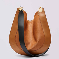 Calf Hair and Leather Crossbody Satchel