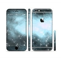 The Bright Blue Vivid Galaxy Sectioned Skin Series for the Apple iPhone6s Plus