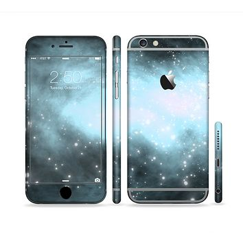 The Light & Dark Blue Space Sectioned Skin Series for the Apple iPhone 6s Plus