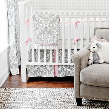 New Arrivals Stella Gray Baby Bedding Set