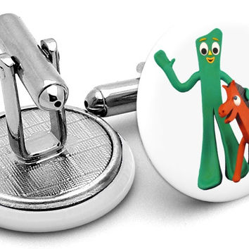 Gumby And Pokey Cufflinks