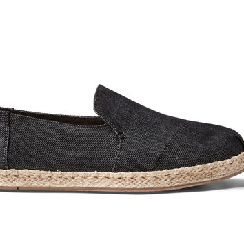 BLACK DENIM WOMEN'S DECONSTRUCTED ALPARGATAS