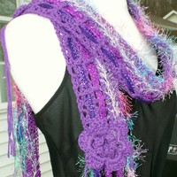"Summer scarf ""THE BOHEMIAN"" Line ""THE ELEGANT PURPLE""."