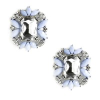Sale-lt. Blue Precious Gemstone Earrings
