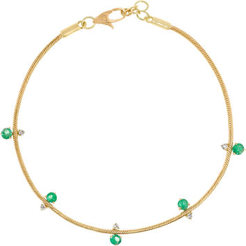 Jemma Wynne - Revival 18-karat gold, emerald and diamond bracelet