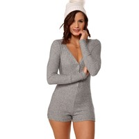Gray Sweet Dreams PJ Romper