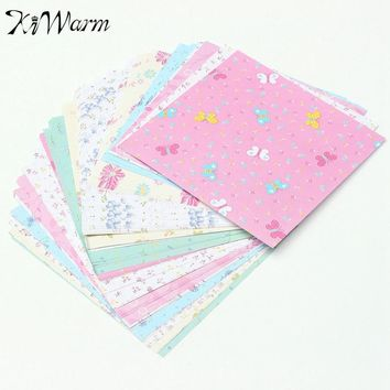 KiWarm On Sale 72Pcs Floral Pattern Origami Paper Single Sided DIY Kids Folded Paper Craft Scrapbooking Decor Pattern Randomly