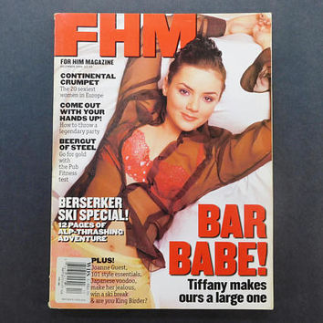 1990s Vintage / FHM Magazine / For Him Magazine / December 1996 / Jo Guest / British Mens Magazine / 90s Fashion / Eurostyle / EastEnders