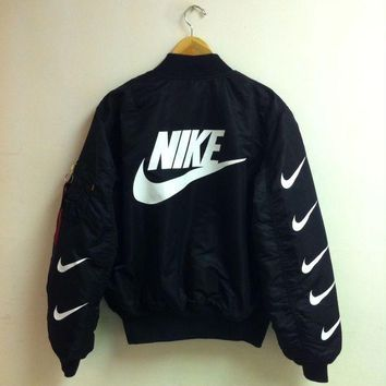 ICIKFC8 Nike x Alpha Industries MA-1 Trending Bomber Jacket