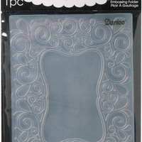 embossing folder, scroll frame