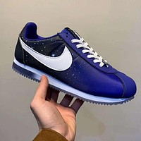 Nike Cortez Nylon Starry Sky Trending Couple Stylish Sport Running Shoes Sneakers Blue