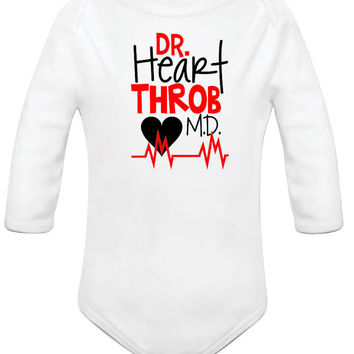 Boy's Onesuit, Boy's Tshirts, Infant Boy Onesuit, Boys Shirts, Toddler Boy Customized Onesuit or Shirt, Dr. Heart Throb MD