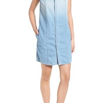Hudson Jeans 'Jules' Ombré Chambray Sleeveless Shirtdress | Nordstrom