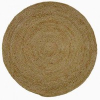 Acura Rugs Jute Natural Braided Round Rug - GR-601 - Area Rugs
