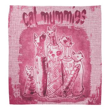 cat mummies purple tint bandana