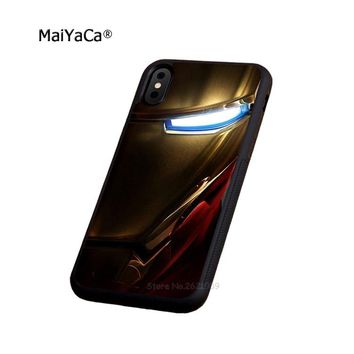 Iron man ironman hight quality soft edge phone case for iphone 5s se 6 6s plus 7 7plus 8 8plus X XR XS MAX silicone cover case