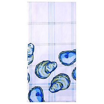 SHARD Aquatic Sea Life Cotton Dish Towel (Oyster)