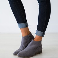 Tassos Grey Booties - Luca + Grae