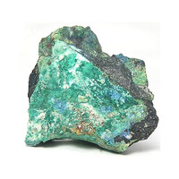 Rare Blue Linarite and Green Brochantite Crystals on Galena Matrix Cabinet Geological Specimen for a Rock and Mineral Collection Nevada