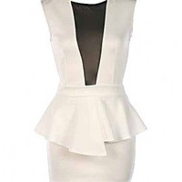 NY Mesh Peplum Dress - 29 and Under