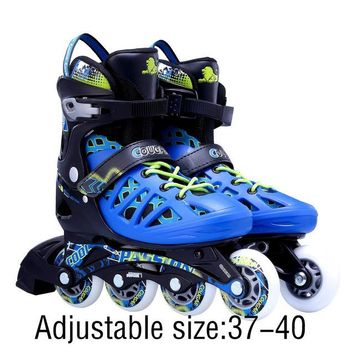 Unisex Adults Skating Shoes Professional Single-row Roller Skates Shoes Adjustable Inline Skating Shoes Roller Skating