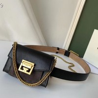 DCCK Givenchy Paris Fashion Women Men Gb39616 Nano Gv3 Bag In Grained Leather And Suede 12*8*4cm