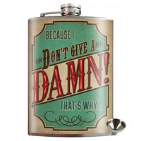 Don't Give A Damn Stainless Steel Hip Flask