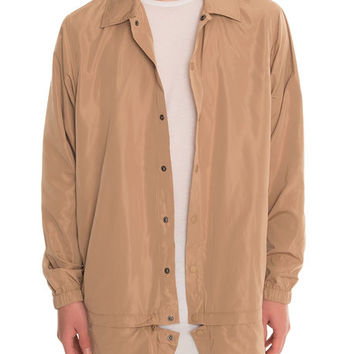 The Langer Hybrid Coaches Jacket in Khaki