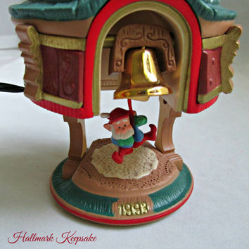 Hallmark Keepsake Christmas Ornament Bells are Ringing Light Motion Sound 1993