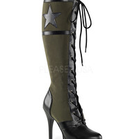 Funtasma Green Military Knee High Boots