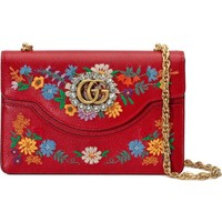 Gucci Small Linea Ricami Floral Embroidered Shoulder Bag | Nordstrom