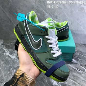 HCXX N959 Concepts x Nike SB Dunk Low Purple Lobster Casual Skate Shoes Green