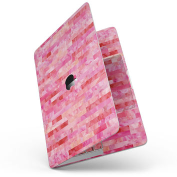 Pink Watercolor Patchwork - MacBook Pro without Touch Bar Skin Kit