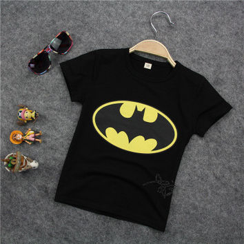 2016 Trending Fashion Batman Summer Cotton Short Sleeve T-Shirt Kids Boys Girls Baby Clothing Toddler Bodysuits Products For Children _ 4718