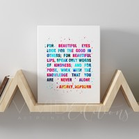 Audrey Hepburn Quote 2 Gallery Wrapped Canvas