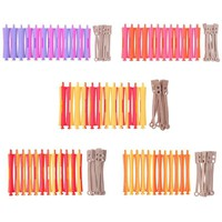 12Pcs/Set DIY Perm Rod Salon Hair Roller Rubber Band Hair Clip Curling Curler Hairdressing Maker Styling DIY Tool