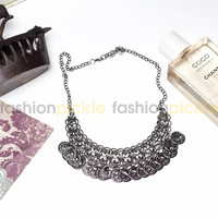Turin Silver Statement Necklace