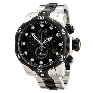Invicta 80565 Men's Venom Chronograph Black Dial Two Tone Bracelet Dive Watch