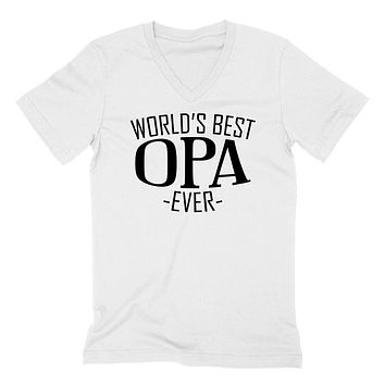 World's best opa ever  family father's day birthday christmas  gift ideas  best grandpa  grandfather  V Neck T Shirt
